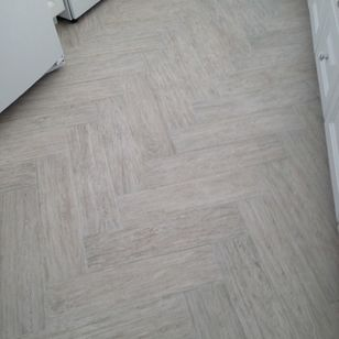 Beachside Home Herringbone Floor Design